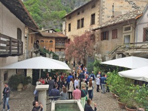 Participants at Summa 2014, held earlier this month at the 17th-Century palazzo of winemaker Alois Lageder in Magré, enjoy the surroundings of Casòn Hirschprunn.