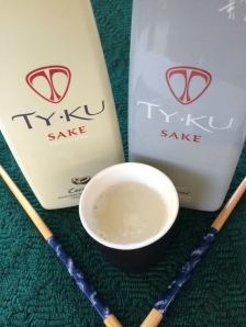Premium sakés, such as the TY KU coconut-infused (left) and TY KU Silver, are best enjoyed chilled. Both are available in Grand Junction andelsewhere. Japanese tradition says you never pour your own glass.