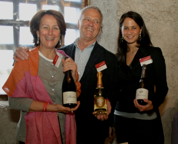 Primo Franco at Summa 2009, with his wife AnnaLisa and daughter Silvia, and a selection of their Prosecco.