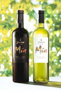 The easy drinking Mia lineup of wines include a Mia red, of 100 percent Tempranillo, and the Mia white, of Macabeo, Xarel-lo and Parellada with a touch of Moscato.