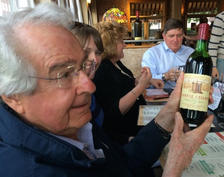 Warren Winiarski holds a bottle of the 1968 Ivancie Cellars Cabernet Sauvignon, a wine he created for Gerald Ivancie and Colorado's first post-Prohibition commercial winery. Winiarski, founder of Stag's Leap Cellars, is renowned as the winner of the 1976 Judgment of Paris.