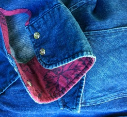 This denim shirt made in by Crawford Denim & Vintage Co. is hand-dyed with the Robert Mondavi Heritage Red blend.