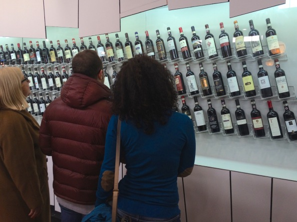 There is an ocean of wine out there and at times it can be daunting. This wall of Chianti Classicos was on display this spring at VinItaly.